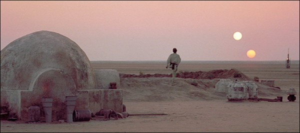 Luke Skywalker on Tatooine destaques ciencia